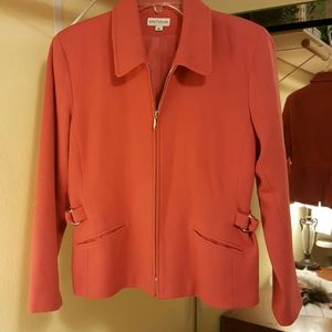Fall zip up lined jacket. Color is really pretty
